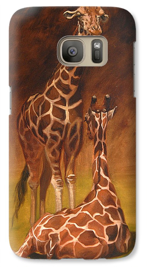 Oil Galaxy S7 Case featuring the painting Looking Out For Each Other by Greg Neal