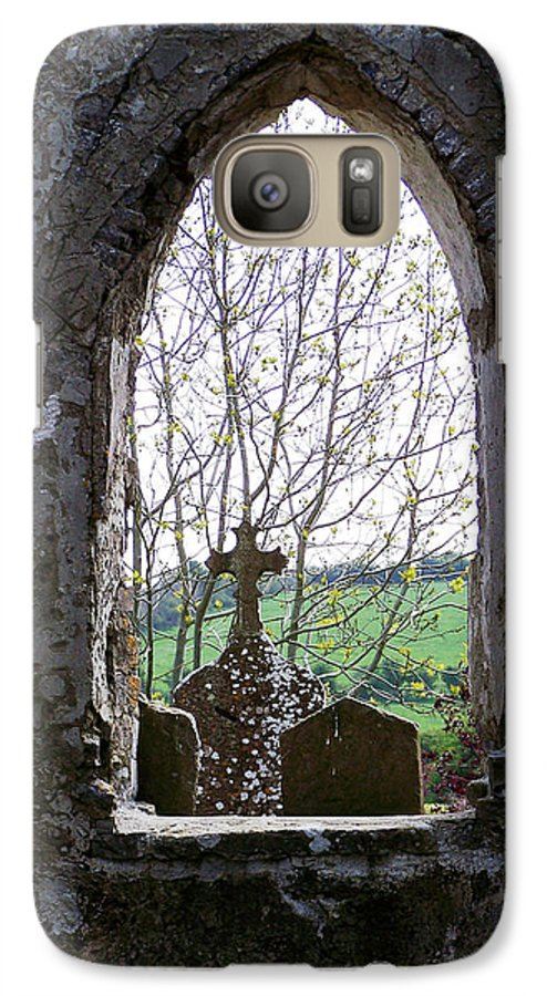 Ireland Galaxy S7 Case featuring the photograph Looking Out Fuerty Church Roscommon Ireland by Teresa Mucha