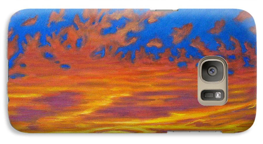 Landscape Galaxy S7 Case featuring the painting Looking To The Southwest by Brian Commerford
