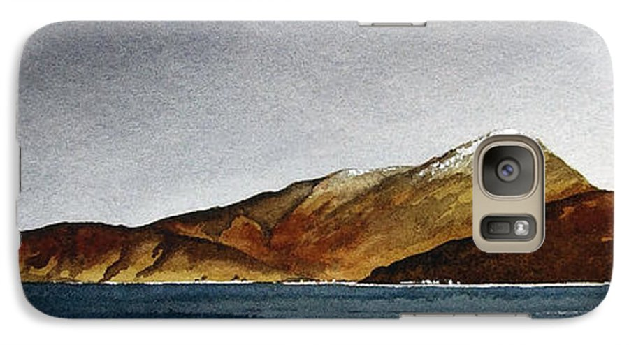 Seascape Galaxy S7 Case featuring the painting Looking Towards Arran From Skipness by Paul Dene Marlor