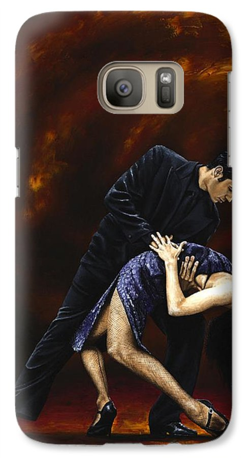 Tango Galaxy S7 Case featuring the painting Lost In Tango by Richard Young