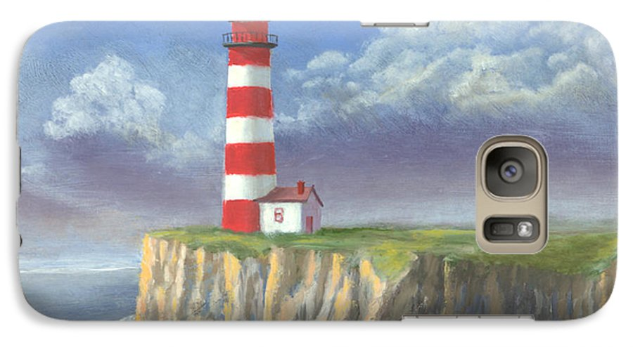 Light Galaxy S7 Case featuring the painting Lost Point Light by Jerry McElroy