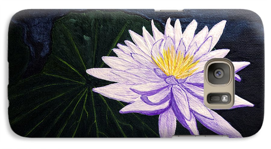 Original Painting Galaxy S7 Case featuring the painting Lotus Blossom At Night by Patricia Griffin Brett