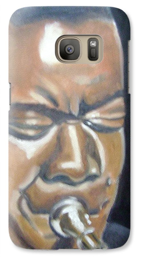 Louis Armstrong Galaxy S7 Case featuring the painting Louis Armstrong by Toni Berry
