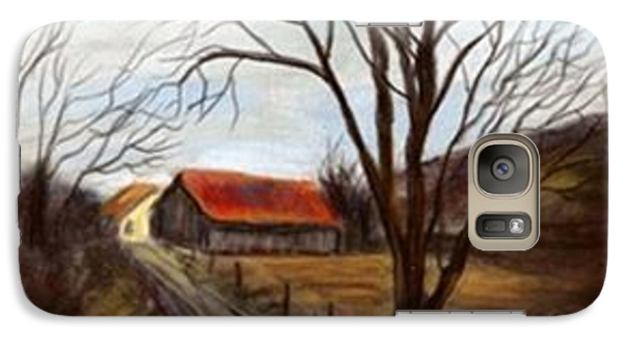 Barn Galaxy S7 Case featuring the painting Louisa Kentucky Barn by Gail Kirtz