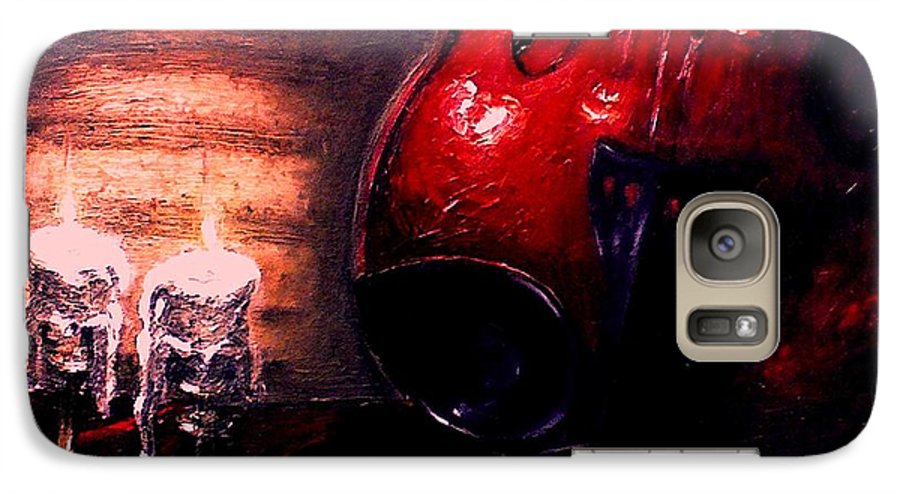 Love Galaxy S7 Case featuring the painting Love For Music by Patricia Awapara