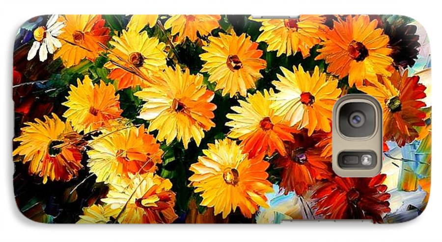 Flowers Galaxy S7 Case featuring the painting Love Irradiation by Leonid Afremov
