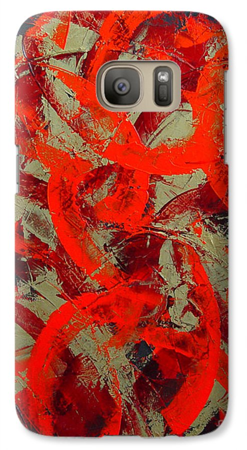 Abstract Galaxy S7 Case featuring the painting Love Trails by Dean Triolo