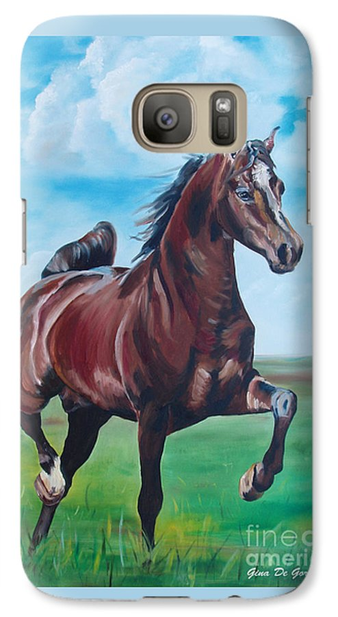 Horse Galaxy S7 Case featuring the painting Lovely by Gina De Gorna