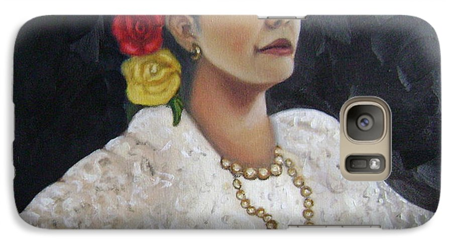 Galaxy S7 Case featuring the painting Lucinda by Toni Berry