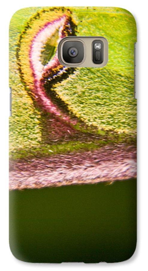 Luna Galaxy S7 Case featuring the photograph Luna Moth Eye by Douglas Barnett