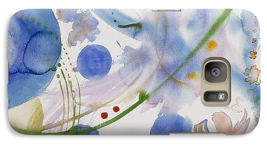 Abstract Galaxy S7 Case featuring the painting Lunar Galactic Convergence by Eileen Hale