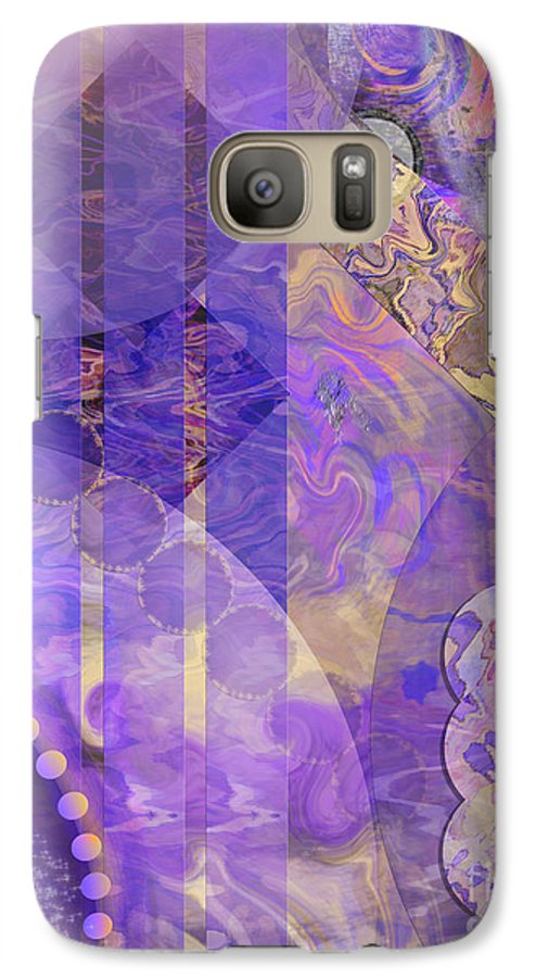 Lunar Impressions 2 Galaxy S7 Case featuring the digital art Lunar Impressions 2 by John Beck