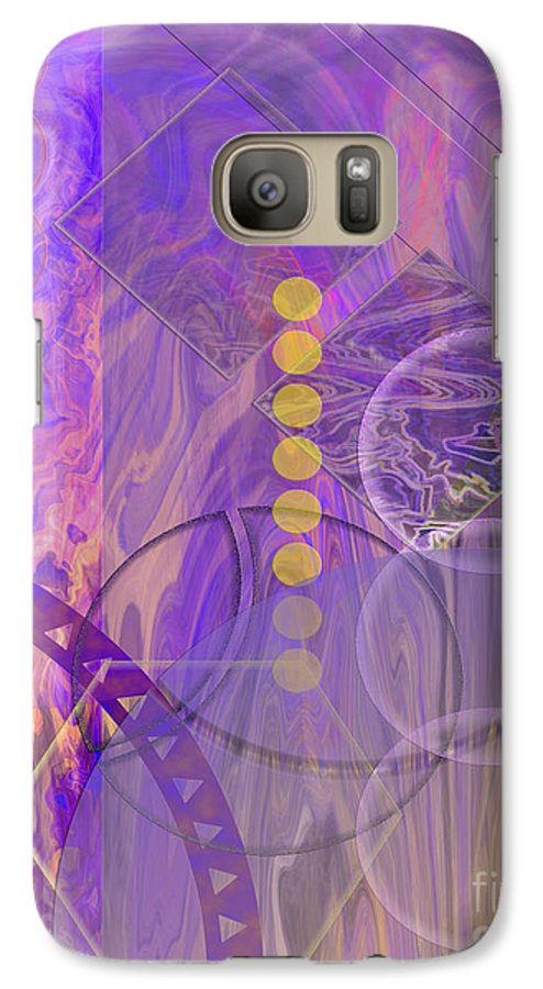 Lunar Impressions 3 Galaxy S7 Case featuring the digital art Lunar Impressions 3 by John Beck