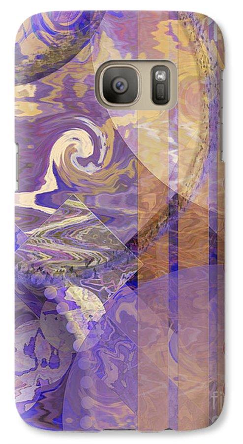 Lunar Impressions Galaxy S7 Case featuring the digital art Lunar Impressions by John Beck