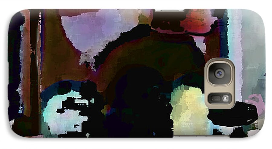 Abstract Expressionism Galaxy S7 Case featuring the painting Lunch Counter by Steve Karol