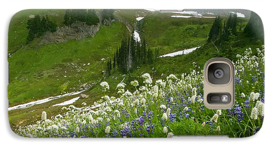 Rainier Galaxy S7 Case featuring the photograph Lupine Storm by Mike Dawson
