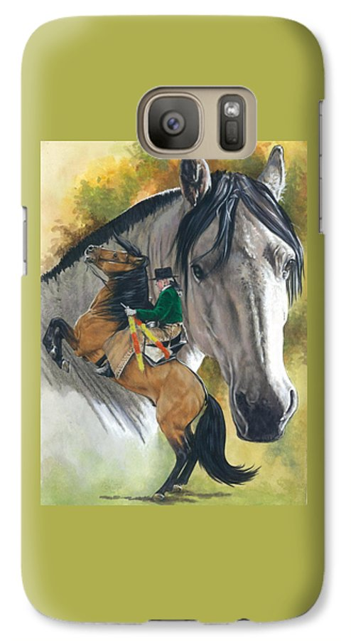 Horses Galaxy S7 Case featuring the mixed media Lusitano by Barbara Keith