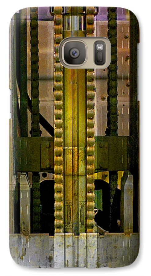 Texture Galaxy S7 Case featuring the photograph Machina by Skip Hunt