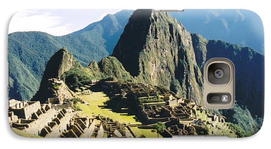 Peru Galaxy S7 Case featuring the photograph Machu Picchu by Kathy Schumann