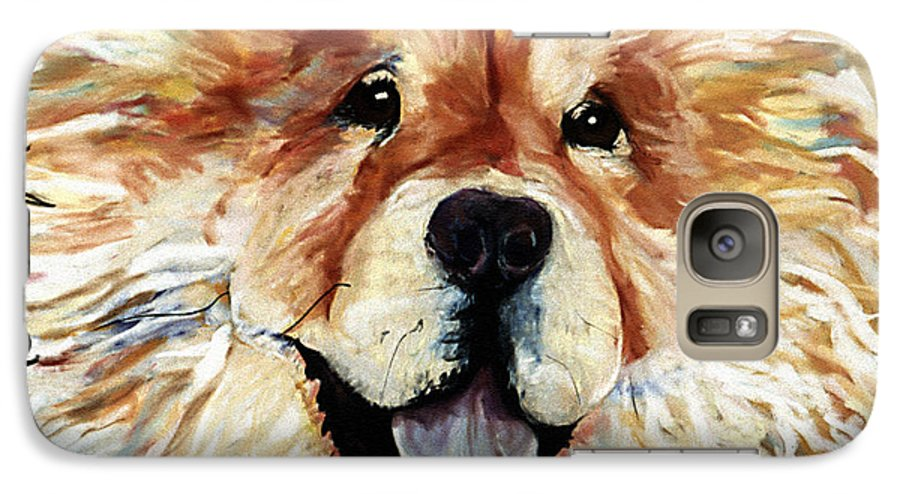 Chow Chow Galaxy S7 Case featuring the pastel Madame Chu Cho by Pat Saunders-White