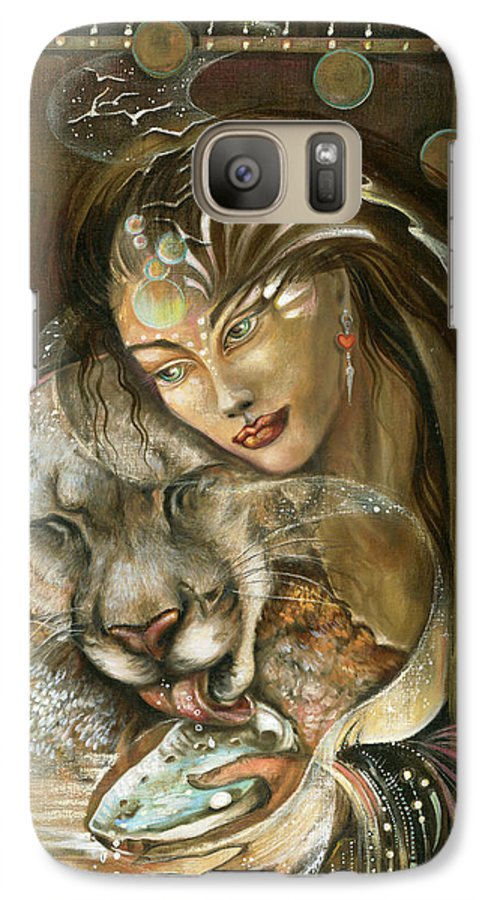 Wildlife Galaxy S7 Case featuring the painting Madonna by Blaze Warrender