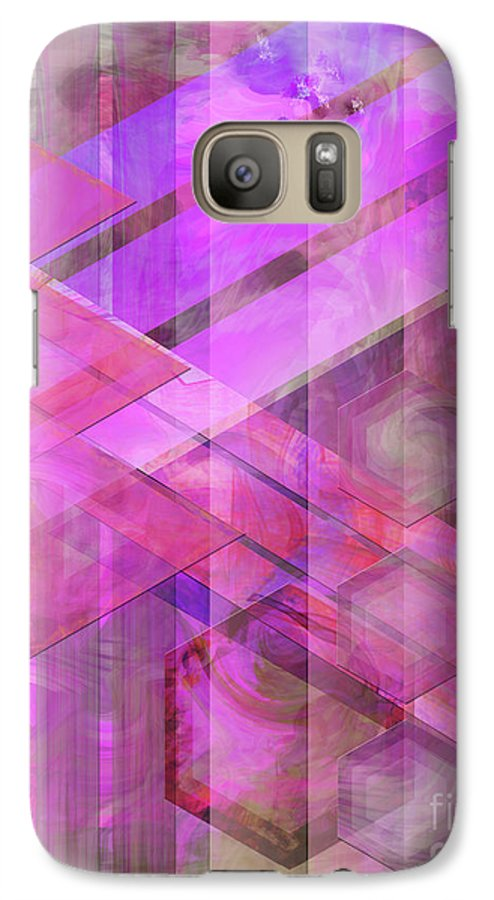 Magenta Haze Galaxy S7 Case featuring the digital art Magenta Haze by John Beck