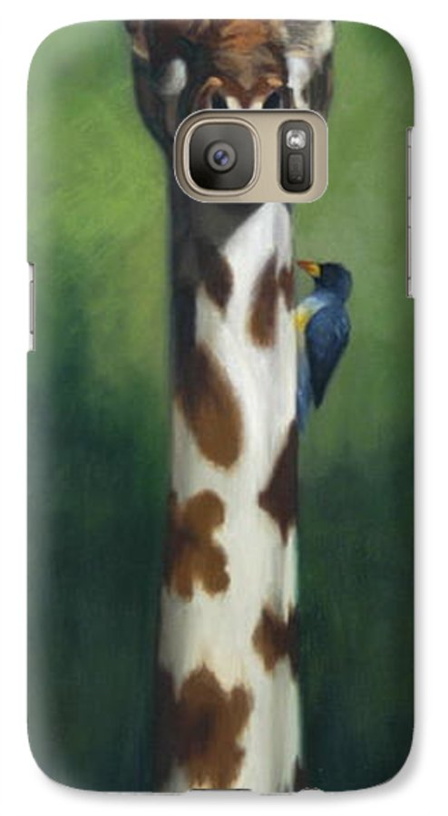 Galaxy S7 Case featuring the painting Maggie by Greg Neal