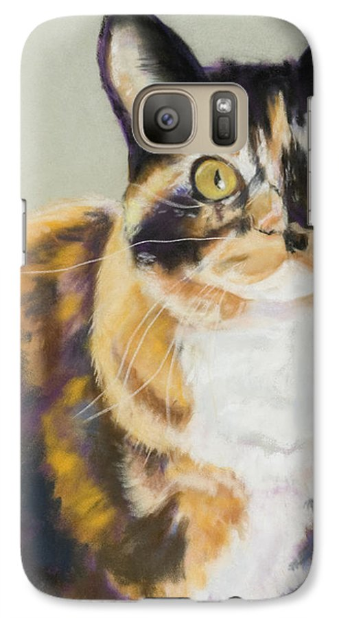 Calico Galaxy S7 Case featuring the painting Maggie Mae by Pat Saunders-White