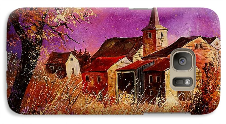 Landscape Galaxy S7 Case featuring the painting Magic Autumn by Pol Ledent