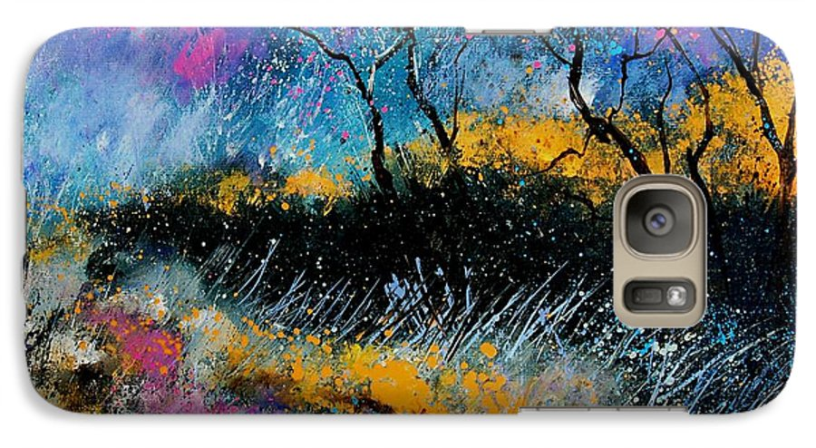 Landscape Galaxy S7 Case featuring the painting Magic Morning Light by Pol Ledent