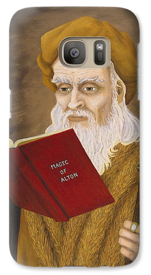 Magic Galaxy S7 Case featuring the painting Magic Of Alton by Roz Eve