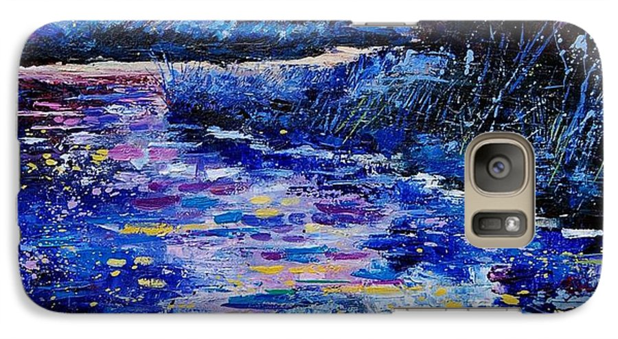 River Galaxy S7 Case featuring the painting Magic Pond by Pol Ledent