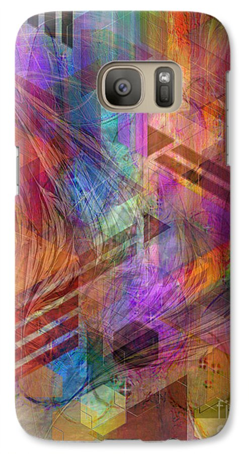 Magnetic Abstraction Galaxy S7 Case featuring the digital art Magnetic Abstraction by John Beck