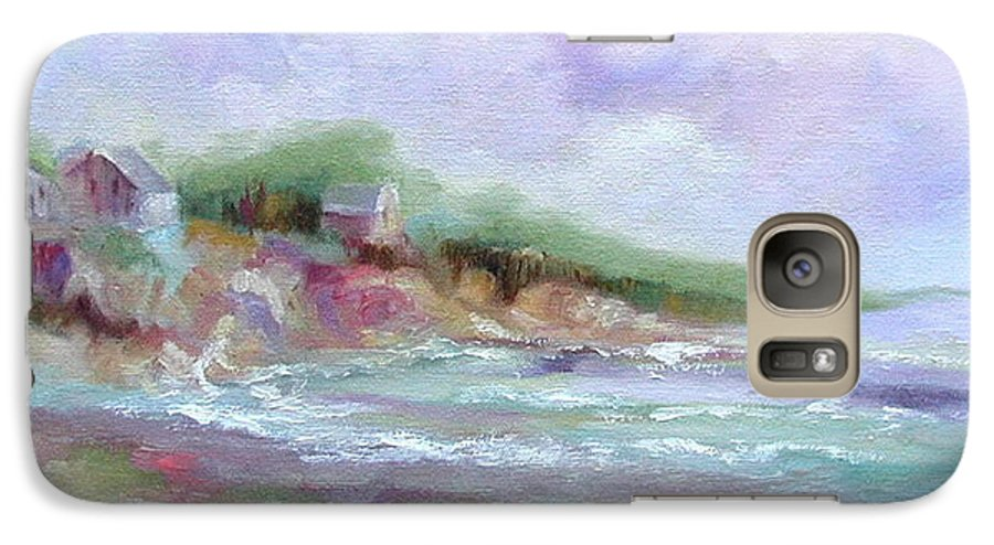Maine Coastline Galaxy S7 Case featuring the painting Maine Coastline by Ginger Concepcion