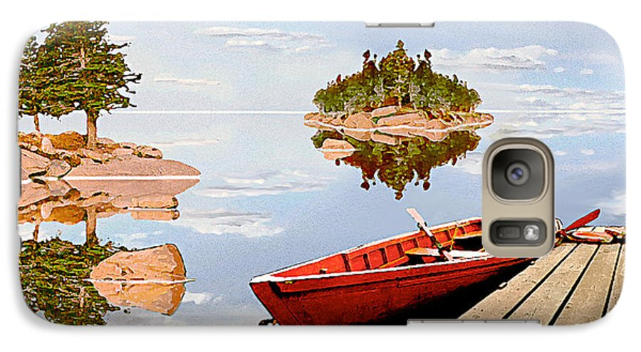 Maine Galaxy S7 Case featuring the photograph Maine-tage by Peter J Sucy