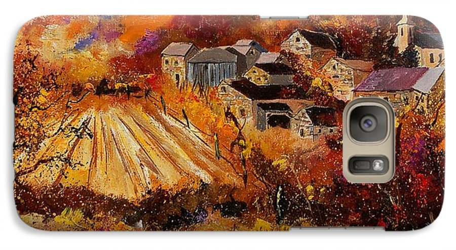 Poppies Galaxy S7 Case featuring the painting Maissin by Pol Ledent