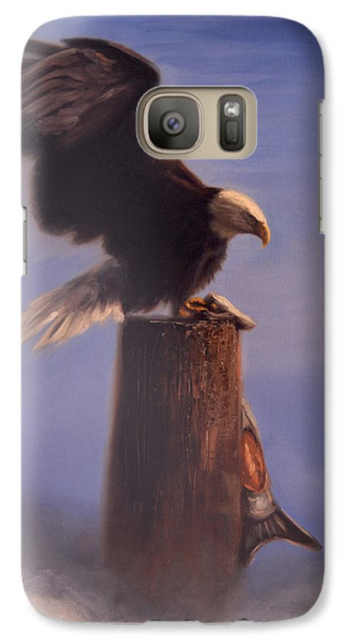 Oil Galaxy S7 Case featuring the painting Majestic by Greg Neal