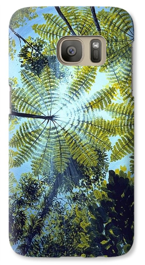 Chris Cox Galaxy S7 Case featuring the painting Majestic Treeferns by Christopher Cox