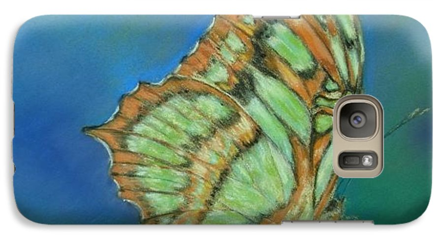 Butterfly Galaxy S7 Case featuring the painting Malachite by Ceci Watson