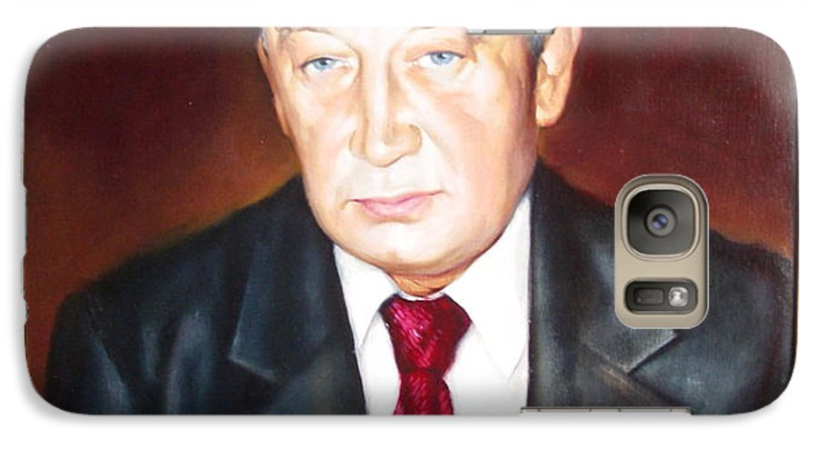 Art Galaxy S7 Case featuring the painting Man 1 by Sergey Ignatenko