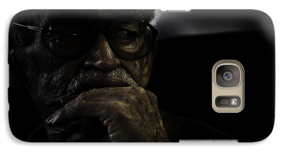 Portrait Galaxy S7 Case featuring the photograph Man On Ferry by Avalon Fine Art Photography