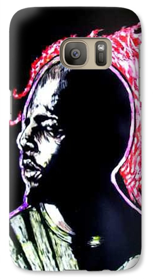 Galaxy S7 Case featuring the mixed media Man On Fire by Chester Elmore