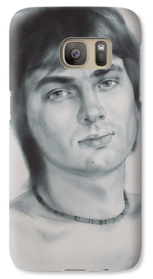 Art Galaxy S7 Case featuring the drawing Man by Sergey Ignatenko