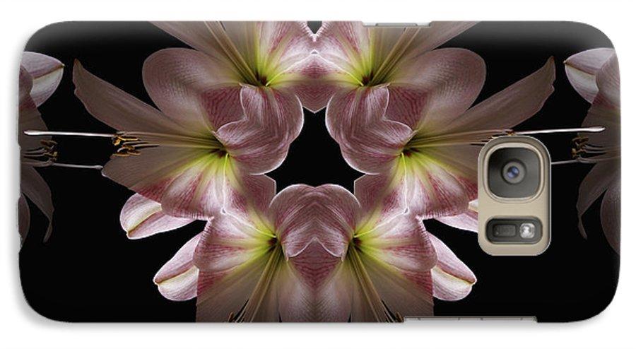 Mandala Galaxy S7 Case featuring the digital art Mandala Amarylis by Nancy Griswold