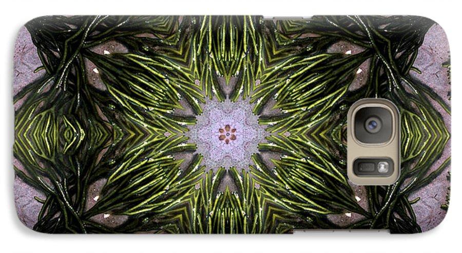 Mandala Galaxy S7 Case featuring the digital art Mandala Sea Sponge by Nancy Griswold