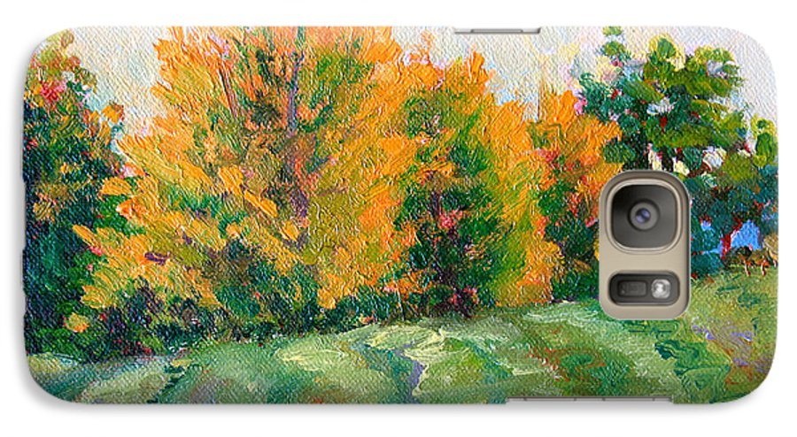 Impressionism Galaxy S7 Case featuring the painting Maple Grove by Keith Burgess
