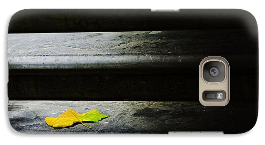 Maple Leaf Galaxy S7 Case featuring the photograph Maple Leaf On Step by Sheila Smart Fine Art Photography