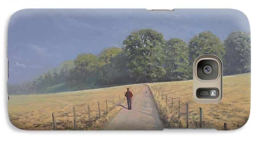 Landscape Galaxy S7 Case featuring the painting Mapledurham by Richard Picton