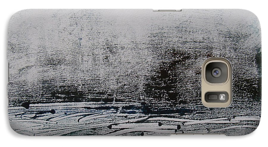 Abstract Galaxy S7 Case featuring the painting Marais 1 by Muriel Dolemieux
